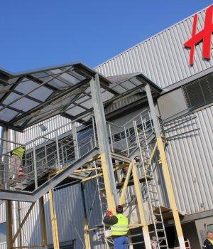 Przebudowa biur centrum logistycznego H&M